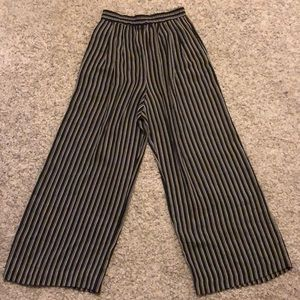 Size 10 black striped semi-sheer Palazzo pants